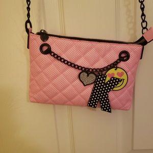 Girls pink Justice purse